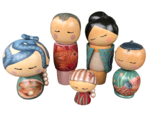 Kokeshi Familie